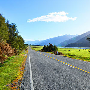 Haast Pass Makarora Road South Island New Zealand