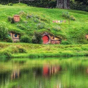 The Hobbit Holes in The Shire