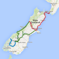 8 day Coast, Mountains and Glaciers - see tour map