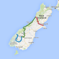 7 day Southern Alps to the Southern Lakes - see tour map