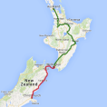 7 day Auckland to Christchurch Highlights Tour - see tour map