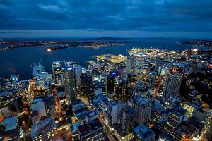 View over Auckland from the Sky Tower
