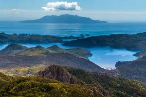 The view from Mt Hobson, Great Barrier Island, New Zealand