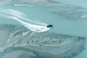 Jet boat down the Dart River on a Wilderness Safari