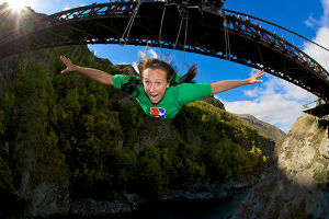 Bungy jumping with AJ Hackett