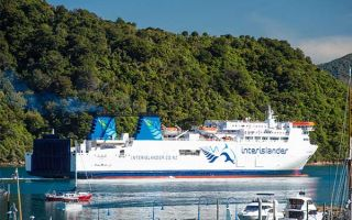 The Interislander Ferry leaves Picton