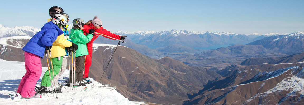 Looking out over the view from Cardrona Ski Field, New Zealand