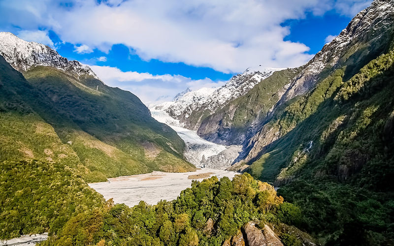 Beautiful mountain scapes in Franz Josef