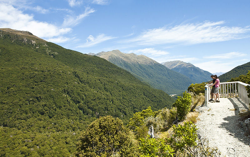 Hiking at Haast Pass