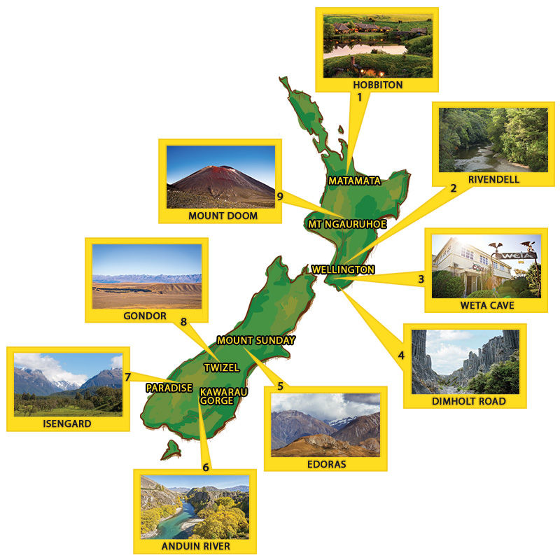 The ultimate Lord of the Rings location map for New Zealand!