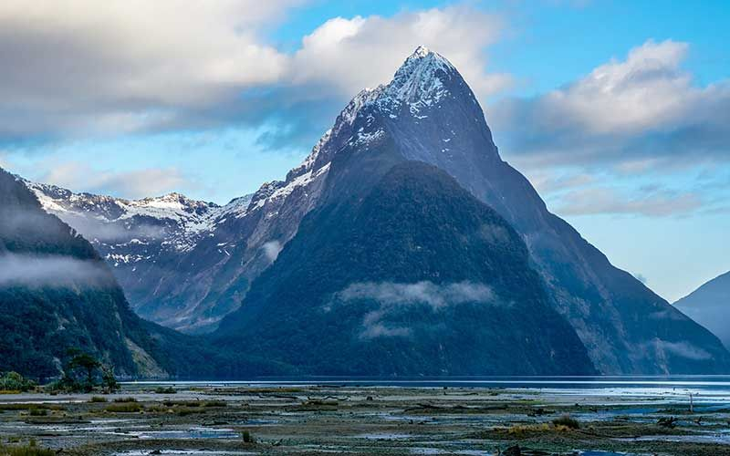 Mitre Peak rising out of Milford Sound