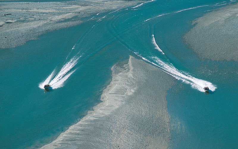 Jet boat in Siberia, New Zealand