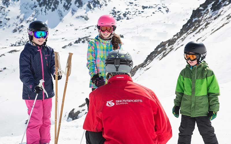 Kids Ski Lesson, The Remarkables, Queenstown, New Zealand