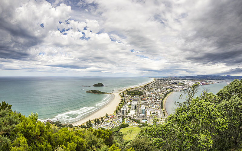 The Bay of Plenty from Mt Maunganui