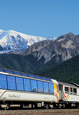 Scenic trains New Zealand