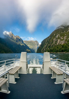 View from the boat on a stunning Milford Sound cruise