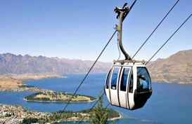 Stunning views over Queenstown from the skyline gondola