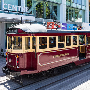 Catch the tram in Christchurch