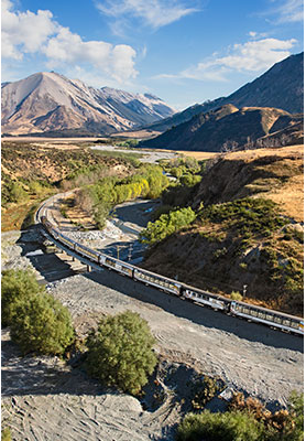 Take the world Famous TranzAlpine scenic train with AAT Kings tours