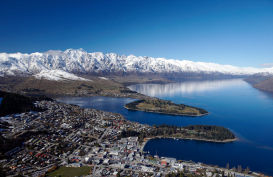View over queenstown from the Skyline Gondola