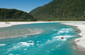 A river in Haast on the West Coast