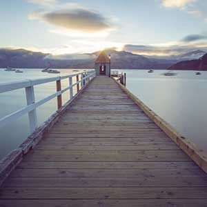 Akaroa Pier, Christchurch, New Zealand