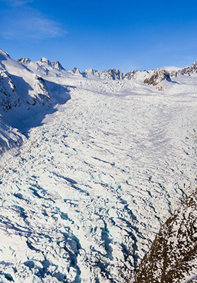 Fox Glacier viewing by helicopter