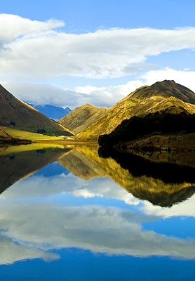 Moke Lake on the outskirts of Queenstown