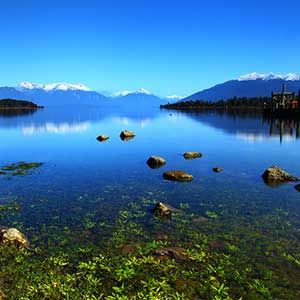 Reflection in Lake Te Anau, New Zealand