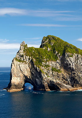 Hole in the Rock, New Zealand
