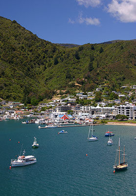 Picton town and harbour, New Zealand