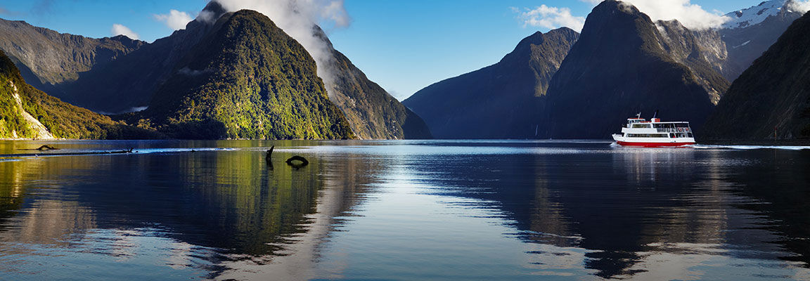 Cruise on Milford Sound, New Zealand