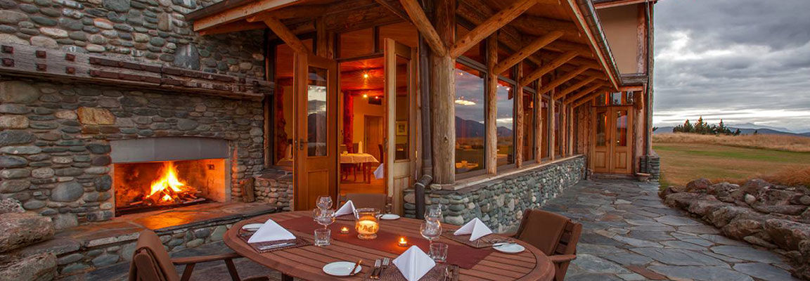 Fireside Dining at Fiordland Lodge