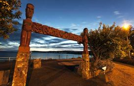 Sunset in Taupo, New Zealand