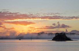 Bay of Islands at sunset