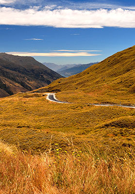 Crown Range Road, South Island , New Zealand