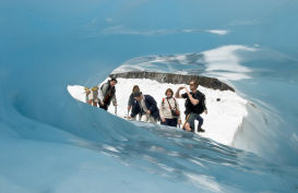 Exploring the ice formations on the South Island's West Coast, New Zealand