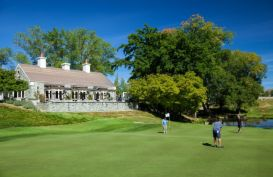 On the green at one of New Zealand's best golf courses