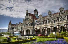 Dunedin Railway Station, one of the top buildings in New Zealand