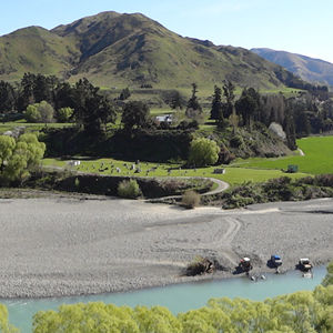 The North Canterbury scenery near Hanmer Springs