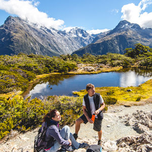 The Routeburn Track starts near Queenstown and crosses the divide into Fiordland