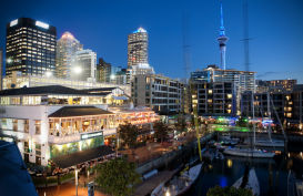 Auckland's viaduct harbour. Cafe and restaurant zone