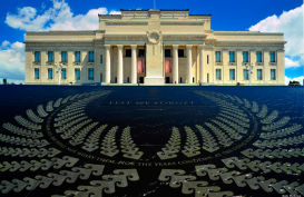 The memorial at Auckland's museum