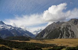 A view of Mt Cook from afar