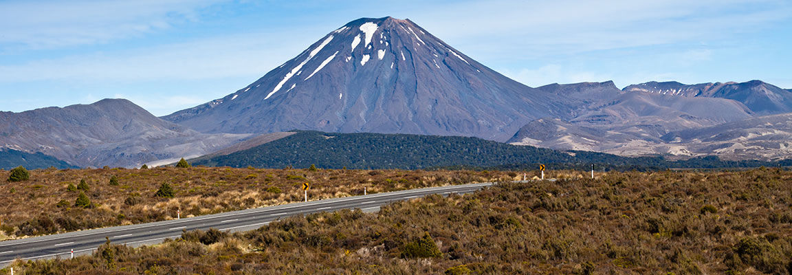 The Desert Rd, North Island with Mt. Ngauruhoe