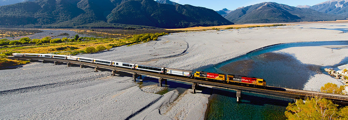 New Zealand train trips - New Zealand self drive tours