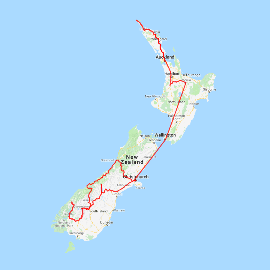 NZ 19 day Ultimate Adventure - view full itinerary