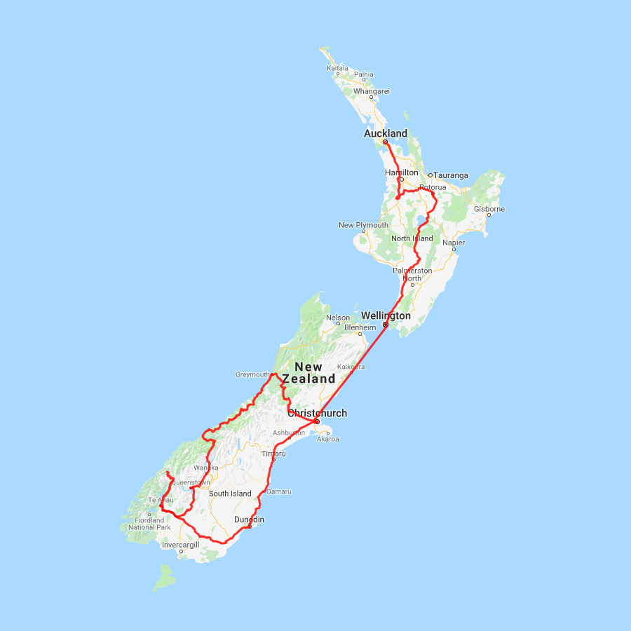 Outstanding New Zealand - view full itinerary