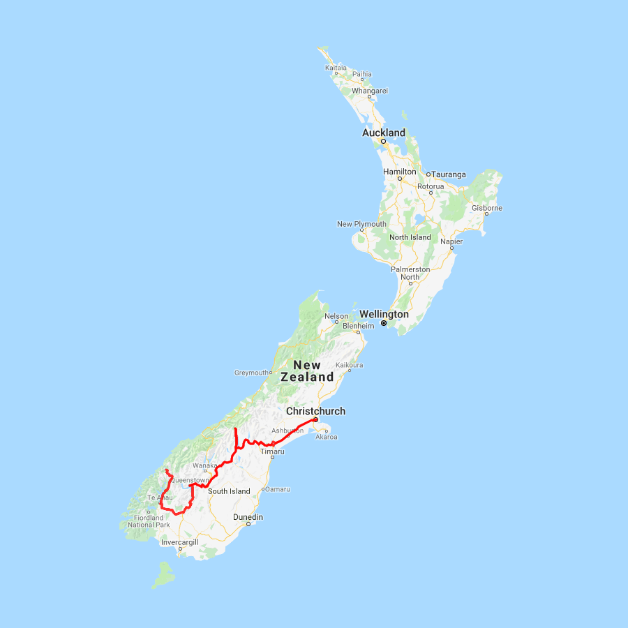 Christchurch to Milford Sound and Queenstown - view full itinerary