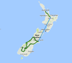 AAT Kings 10 Day Contrasts of New Zealand (IZANB) - view full itinerary